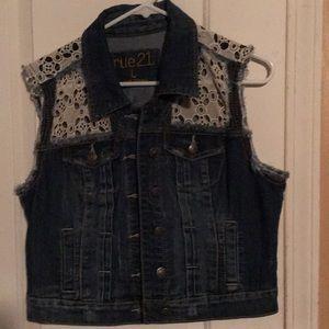 Jean jacket/vest